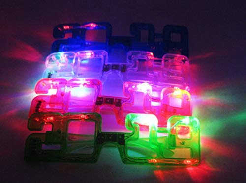 12/pk Light Up New Year Party supplies 2019 Sunglasses Glasses Glowing Eyes Led Shades -