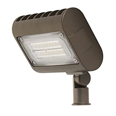 FEIT S6AJWPK/850/BZ 1320 Lumen 5000K LED Adjustable Wall Pack, 120-277V - BRONZE FINISH