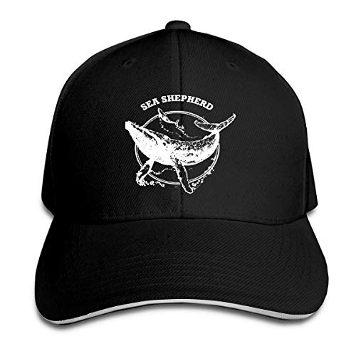 - Sea Shepherd Whale Adjustable Sandwich Cap Baseball Cap Casquette Hat Black