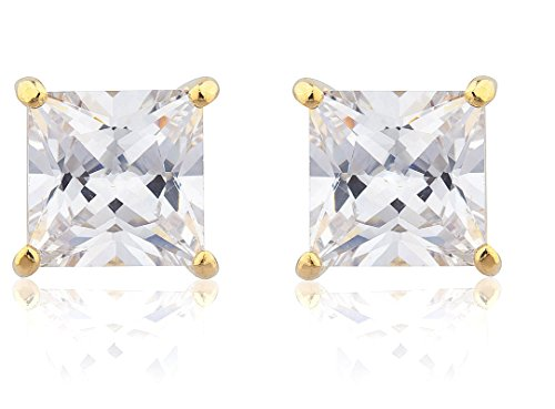 Goldtone-with-Clear-Cz-Square-Magnetic-Stud-Earrings-4mm-to-12mm-Available