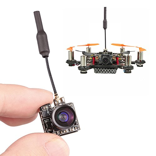 Apleye FPV Camera AIO 5.8G 40CH 25MW Video Transmitter VTX 800TVL 1/3 Cmos with Antenna FPV Combo for FPV Quadcopter Drone Multicopter (Flyer Transmitter)