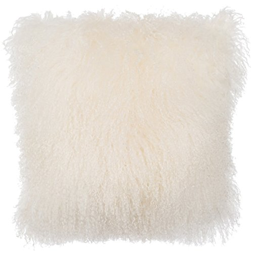 SLPR Home Collection Mongolian Lamb Fur Pillow Cover, for sale  Delivered anywhere in USA