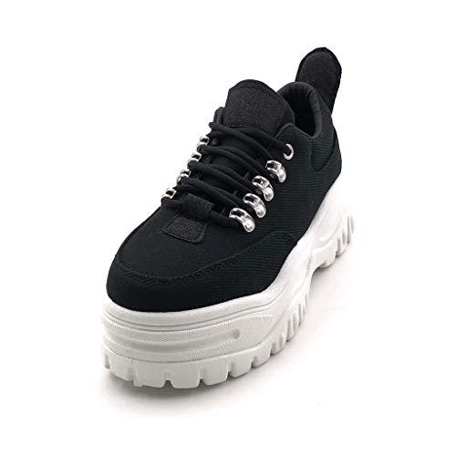 Tacco Sneaker Scarpe Moderno Piattaforma Zeppe Nero Zeppa Cm 5 Donna Moda Street 2 Tennis Angkorly 8Zdfwxf
