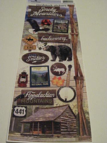 - Sticker Scrapbooking Cardstock Paper House Smoky Mountains Cabin Bear 441 13