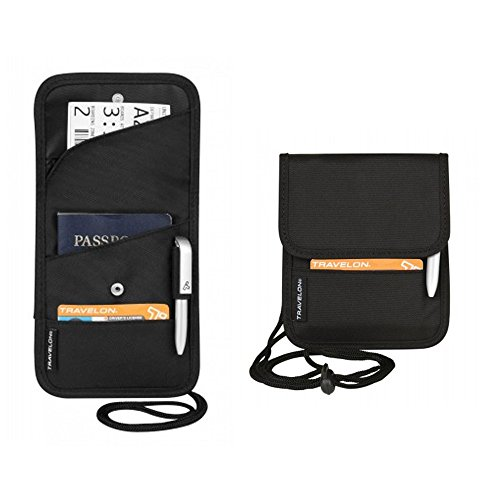 41ERxpkJoVL - Travelon Folding Id and Boarding Pass Holder, Black, One Size