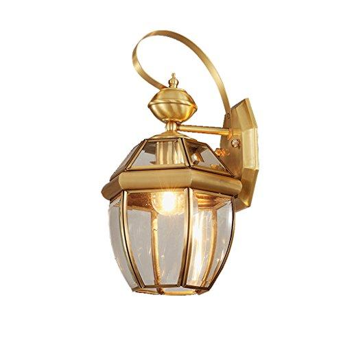 - NYDZ wall lamp Outdoor Copper Continental Balcony Lights Corridor Corridor Garden Lamp Bedside Lamp Porch Lights Retro Waterproof