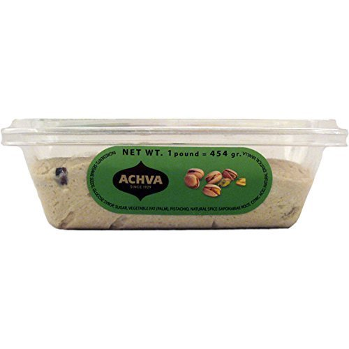 Achva Pistachio Flavored Sesame Halva 16 Oz. Kosher For Passover Pack Of 6