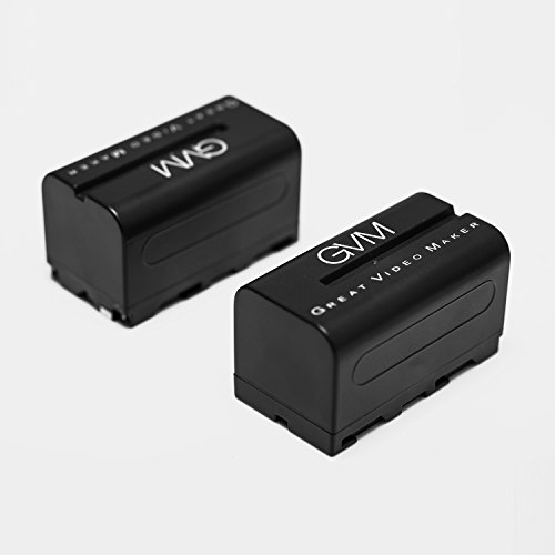 GVM LED Video Light Battery Power Supply Charger Np-f750/f770 for Most GVM Video Lights 2 Pack