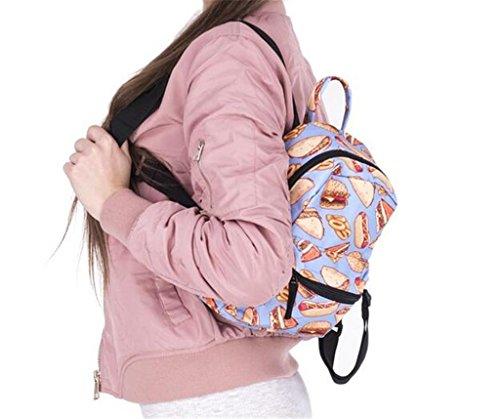 SHFANG Student Rucksack mit Mini-Schulter Oxford Tuch (gedruckt in Hamburg) Frau Einkaufen Outdoor 20 * 11 * 24cm