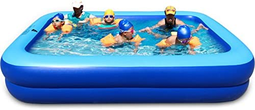 ASL Familia inflada plegable piscina de gran tamaño 260 * 170 * 47 ...