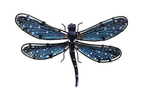 Liffy Metal Dragonfly Wall Decor Outdoor Hanging Art Blue for Living Room Bedroom (Dragonfly Wall Hanging)