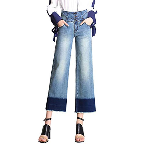 (Minghe Women's High Waisted Wide Leg Jeans Stretch Denim Bootcut/Cropped Flare Jean)
