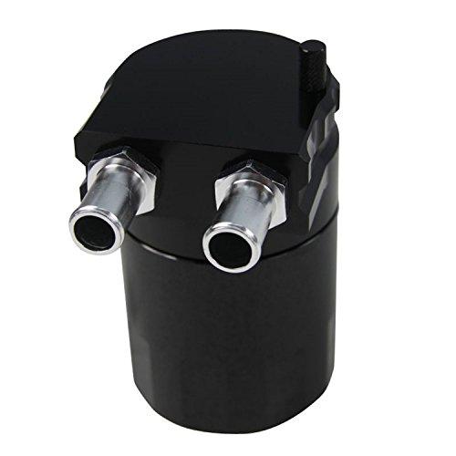 ALLOYWORKS Universal Oil Tank Baffled Aluminum Alloy Oil Catch Can Reservoir Tank(Black) by ALLOYWORKS (Image #1)