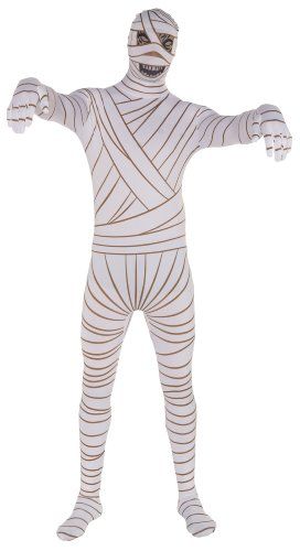 Old Man Skin Costume (Rubie's Costume Mummy 2nd Skin Suit Costume, Multi, Large)