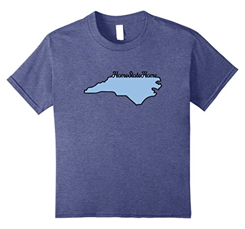 Price comparison product image Kids Home State Home T Shirt For North Carolinians 8 Heather Blue