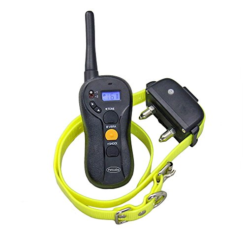 Petcabe Dog Training Collar Rechargeable and Waterproof Remote Control Collar Beep Vibra and Shock 3 Modes