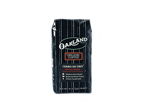 Oakland Coffee Works Organic Single-Origin Whole Bean, Cerro De Oro, 12 Ounce