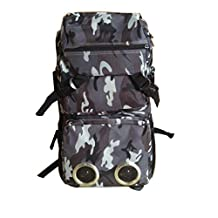 CooL urban Grey city army style SPEAKER BACKPACK WITH REAL Bulit in WORKING SPEAKERS / works with any iphone and andriod device , simple plug and play CooL style Bag