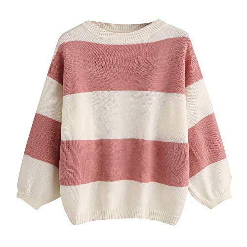à Sweatshirt à longues Pullover femmes tricot en shirt Zhrui rond décontracté femmes Pulls T col pour Chemisier tissé pour Top manches Uwxn5qSB1