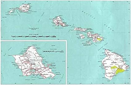 image regarding Printable Map of Maui referred to as : Canvas Print Hawaii Nation Map Maui Oahu Kauai