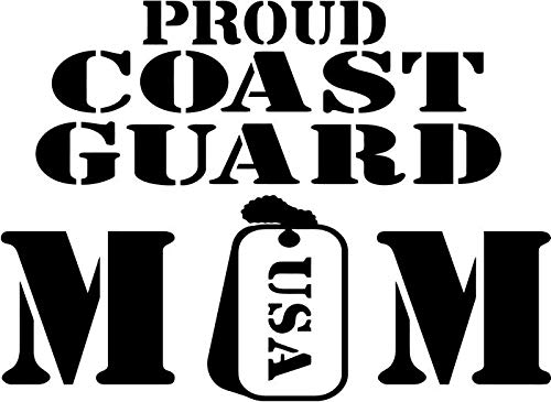 - BEARGRAPHIX Proud Coast Guard Mom Decal Sticker Decor Car Motorcycle Truck Bumper Window Laptop Wall Décor Size- 10 Inch Wide Gloss White Color