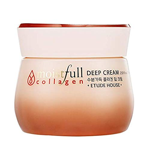 ETUDE HOUSE Moistfull Collagen Deep Cream 2.5 fl.oz. (75ml) - Long Lasting Strong Moist Facial Cream with Super Collagen Water, Makes Skin Healty and Moistful by Etude House