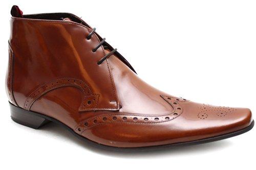 Jeffery West Black Line G0351Hn Bottines en cuir style richelieu - homme