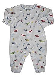 Kissy Kissy Baby Aviators Print Footie-0-3 Months
