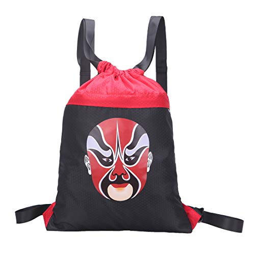 Yuxh Gym Bags Drawstring Backpack Bags Sports Waterproof Backpack Bags for Men and Women(face2)