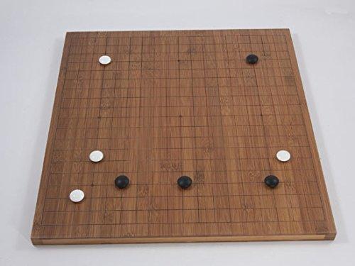Go-Spiel: Bambusbrett, 19x19/13x13, 20mm, dunkel mit gefrästen Linien