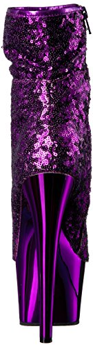 Pleaser ADORE-1008SQ Purple Sequins/Purple Chrome Perfecta De Descuento 7jjrVaUg