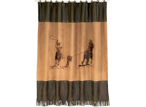- HiEnd Accents Team Roping Western Shower Curtain