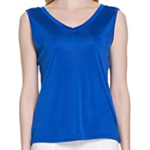Paradise Silk Pure Silk Knit Women's V Neck Double Side Short Sleeves Top