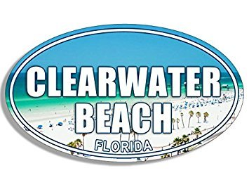GHaynes Distributing MAGNET OVAL Clearwater Beach Magnet(florida fl logo) 3 x 5 inch ()