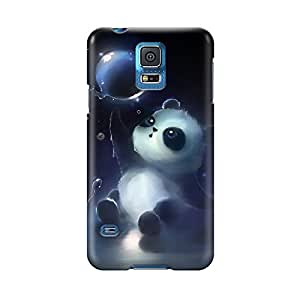 S50573 Panda Magic Bubbles Glossy Case Cover For Samsung Galaxy S5 by runtopwell