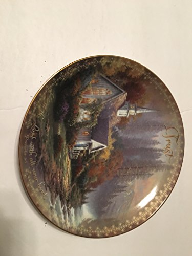 BRADFORD EXCHANG FOREST CHAPEL THOMAS KINKADE COLLECTOR PLATE