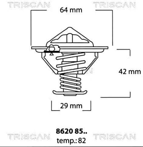 Triscan 8620 8582 Thermostat Kühlmittel Auto