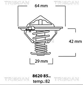 GATES TH05982G1 Kühlmittel für MITSUBISHI NISSAN Thermostat
