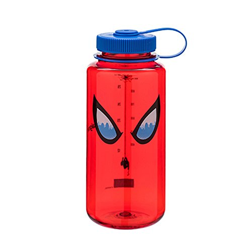 Nalgene Tritan Wide Mouth BPA-Free Water Bottle, 32 Oz, Spiderman Eyes by Nalgene