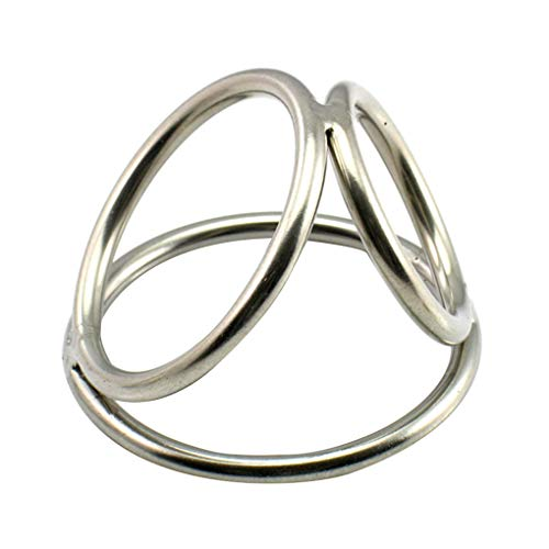 MuLuo Three Link Cock Rings Stainless Steel Penis Ring Condoms Men Sex Extender Enhancer Sex Toys
