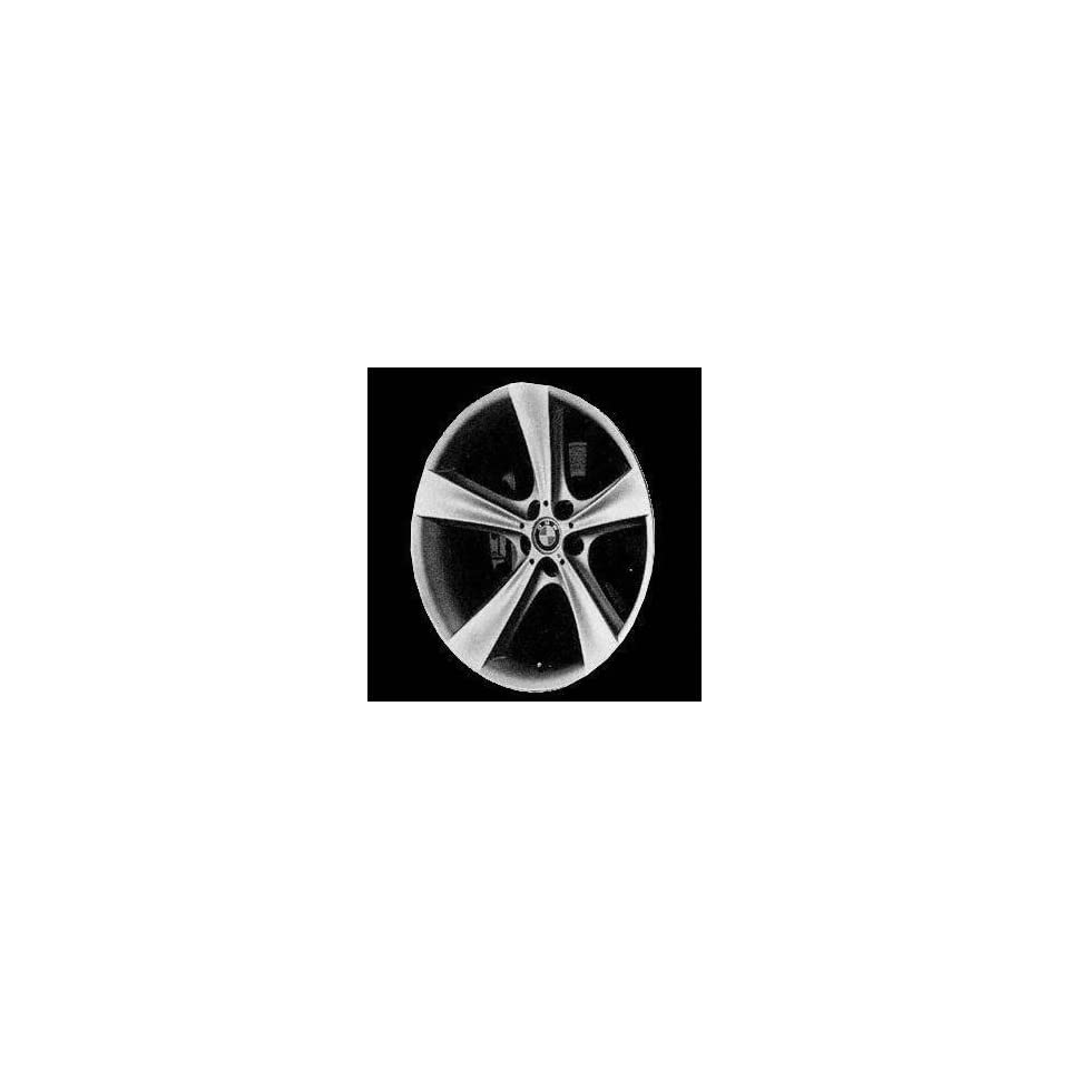 04 05 BMW 525I 525 i ALLOY WHEEL RIM 19 INCH, Diameter 19, Width 8, Lug 5 (5 FLAT SPOKES; FRONT), BRIGHT SILVER, 1 Piece Only, Remanufactured , (center cap not included) (2004 04 2005 05) ALY59507U20