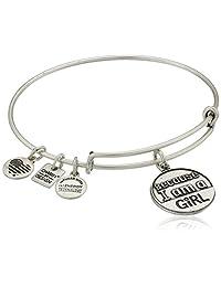 "Alex and Ani Charity by Design ""Because I Am A Girl"" Rafaelian Finish Expandable Bangle Bracelet"