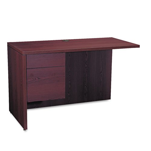 HON 10516LNN 10500 Series 48 by 24 by 29-1/2-Inch L Workstation Return, Left, Mahogany - Hon L-desk