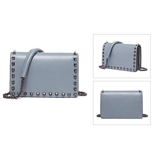Lady Handbag Blue Small Style Bag Daily Crossbody Shopping Casual Shoulder Bag Luxury AqdxF7