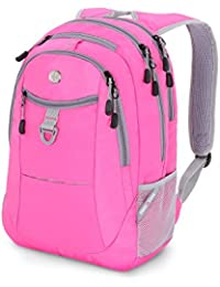 "SwissGear Colors 15"" Laptop Backpack, Pink/ Grey, One Size"