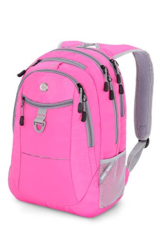 Grey And Pink Backpack