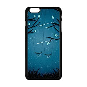 LJF phone case Artistic moon meteor showers and swings Cell Phone Case for Iphone 6 Plus