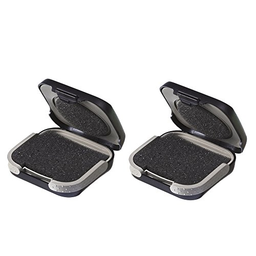 Hearing Aid Storage Case Hard - Hearing Aids Carrying Box Small Holder for CIC, ITC,not for BTE ABS Black (2 pcs in 1 Pack) (Kids Hearing Aid Cases)