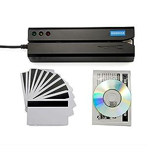 Deftun MSR605X USB Magnetic Stripe Swipe Credit Card Reader Writer Encoder MSR206