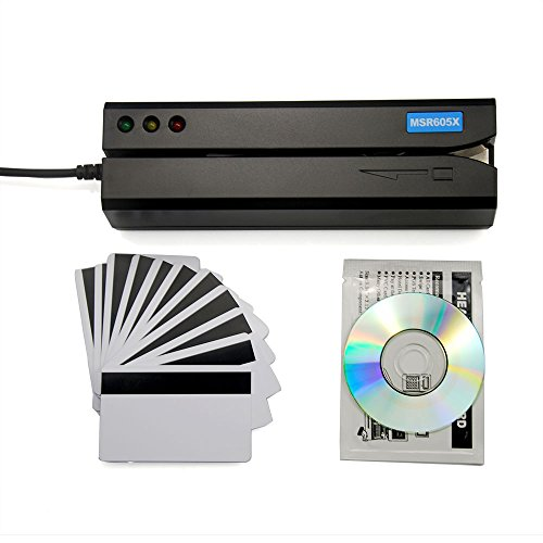 Deftun MSR605X USB Magnetic Stripe Swipe Credit Card Reader Writer Encoder MSR206